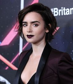 lily collins looks like a sexy vampire at the 2017 critics 39 choice awards pinterest critic. Black Bedroom Furniture Sets. Home Design Ideas