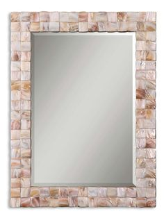 Vivian Mother Of Pearl Mirror - lovely pieces of shell!