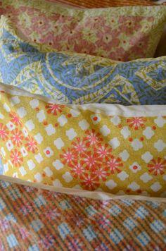 Polly Alizarin-Harvey cushions