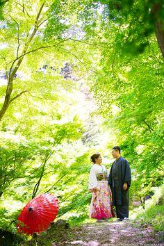 pre-wedding in Fukuoka from Hong Kong with kimono @新緑と福岡前撮りロケーションフォト - ○○しゃしんのじかん    http://blog.goo.ne.jp/moriken_photo/