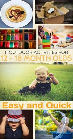 11 Outdoor Activities for 12 – 18 Month Olds Activities For One Year Olds, Outdoor Activities For Toddlers, Nature Activities, Toddler Learning Activities, Summer Activities For Kids, Infant Activities, 11 Month Old Baby, Outdoor Baby, Thing 1