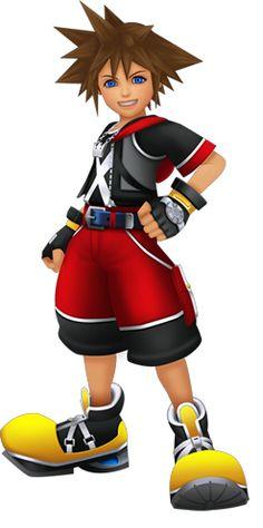 Sora in Kingdom Hearts 3D: Dream Drop Distance.