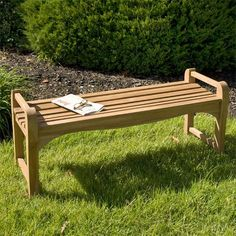 4 ft Teak Backless Bench