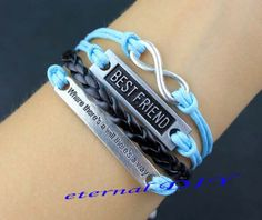 infinity bracelet Best friend bracelet where there by eternalDIY, $7.99