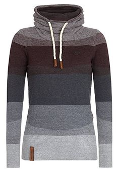 Naketano Female Knit Joao Schmierao III Grey Melange Striped, XS: Amazon.de: