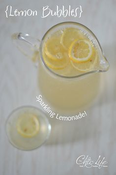Lemon Bubbles aka Sparkling Lemonade. Made clean with fresh-squeezed lemon juice and simple syrup. Goes great with all your favorite grilled foods. Wonderful for entertaining! Lightly sweetened and light on the lemon flavor. #eatclean #drink #mocktail #recipe #lemon #laborday #grillingout