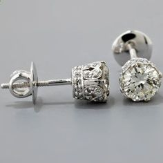 vintage diamond earrings. So pretty!