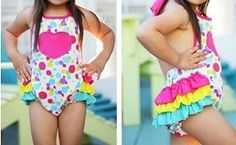 rainbow dot printed bubble rompers bubble romper birthday summer romper Easter Romper by TheLittleMunchkins on Etsy Children's Boutique, Girls Boutique, Wholesale Boutique Clothing, Summer Romper, Sexy, Hair Bows, Cute Girls, Tankini, Bubble