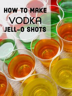 There is nothing more fun than having Jell-O shots at one of your parties. They are relatively inexpensive to make and something fun you can have on hand to offer your guests and their friends.