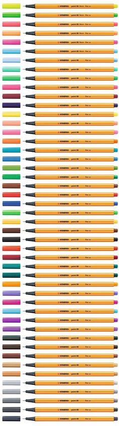 The STABILO point 88 is now available in 47 beautiful colors!
