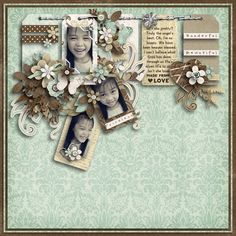 The multi layered tags are lovely. The original scrapper created a nice triangle Scrapbook Designs, Scrapbook Sketches, Scrapbook Page Layouts, Baby Scrapbook, Scrapbook Paper Crafts, Scrapbook Cards, Card Making Inspiration, Layout Inspiration, Journal Cards
