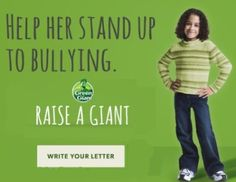 Green Giant Raise a Giant letter writing site helps families dealing with bullying