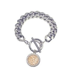 Nikki Lissoni Silver Plated Bracelet To Suit Pendants And Coins 21cm. code:BFP01S2