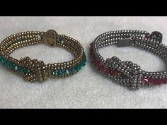 BeadsFriends: Triple spiral tutorial - How to make a triple spiral bracelet | Beading Tutorial - YouTube