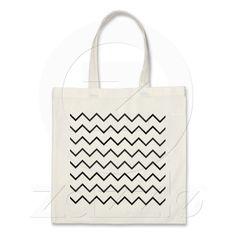 zigzag triangle geometric pattern tote bags