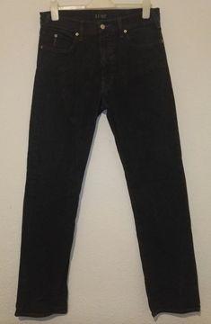 Armani Jeans Vintage Faded Black Comfort Fit Straight Leg Metal Logo W32 L32