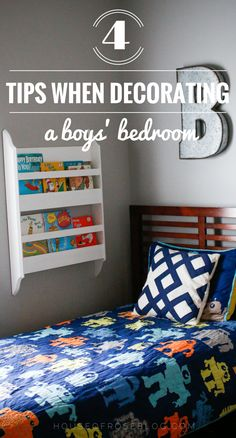 Boy Bedroom Ideas and Tips by HouseofRoseBlog.com