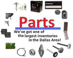 Want to do-it-yourself?    Consider using local garage door parts including: springs, hinges, cables, rollers, remotes, batteries, safety sensors, gear kits, and much more. Save yourself the shipping pains, and call a professional to confirm the parts you're looking for without having to guess.