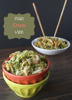 Chow Mein Paleo Style. If you have been missing Panda Express Chow Mein then try this recipe!
