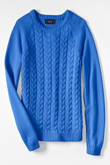 The Year-Rounder Sweater: Women's Drifter Cable Sweater by Land's End $49-59