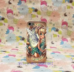 Hard Clear Back Cover Transparent Case for iPhone 5 5s 5g 134R- Tinkerbell Those Who Wander Are Not Always Lost pin up tattoos