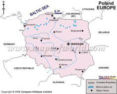 Poland River Map