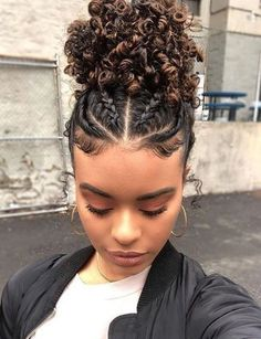 Cute Curly Hairstyles, Black Women Hairstyles, Baddie Hairstyles, Protective Hairstyles, School Hairstyles, African Hairstyles, Wedding Hairstyles, Braids For Curly Hair, Mixed Girl Hairstyles