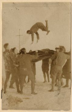 This reminds me of bounc team. Oh how I miss bouncing.    Up in the air :: The Haviland-Heidgerd Historical Collection