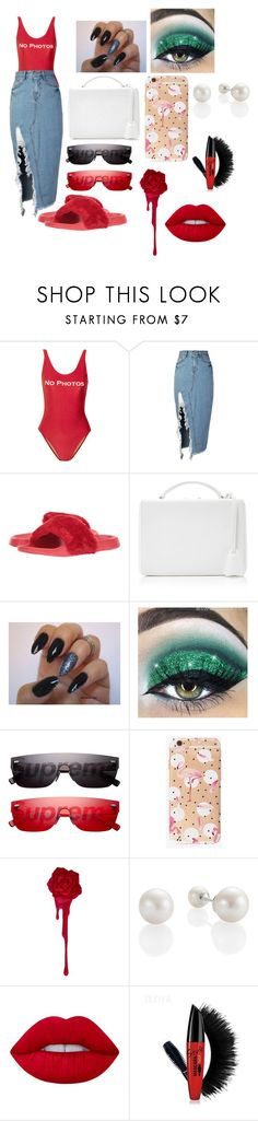 """No photos "" by queen406 ❤ liked on Polyvore featuring beauty, ADRIANA DEGREAS, storets, Lust For Life, Mark Cross, Louis Vuitton and Lime Crime"