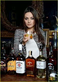 Mila Kunis at Jim Beam Bourbon's Make History cocktail reception in New York