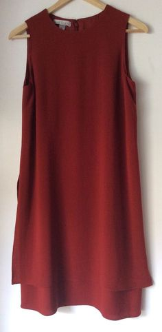 ANNE KLEIN PETITE NEW A-Line Sleeveless Layered Style Knee-Length Dress Size 10 #AnneKlein #layeredhem