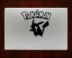 """Whos that pokemon? Pikachu Decal Sticker Vinyl For Macbook Pro/Air 13"""" Inch 15"""" Inch 17"""" Inch Decals Laptop Cover #pikachudecals"""