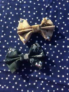 STUDDED Camo Bow by AnAnchorOfLove on Etsy, $6.75