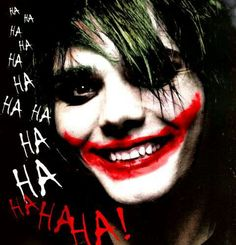 Gerard Way as the joker (My Chemical Romance)