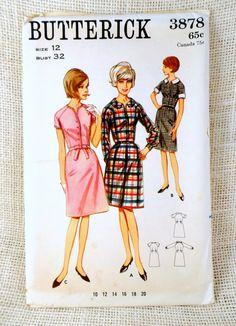 1960s dress pattern shirtwaist pattern by momandpopcultureshop