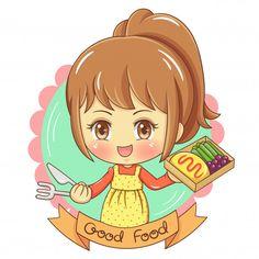 Cartoon Chef, Cartoon Logo, Cartoon Kids, Cartoon Art, Kitchen Cartoon, Cute Bakery, Chef Logo, Cute Cartoon Characters, Coffee Poster