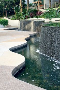water features drawing / Landscaping , water features in the garden Water Architecture, Landscape Architecture Design, Landscape Designs, Classical Architecture, Ancient Architecture, Sustainable Architecture, Modern Water Feature, Modern Landscaping, Landscaping Supplies