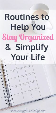 Do you feel like you have more going on then you can handle. It doesn't have to be that way. These easy routines will help you stay organized and simplify your life. How To Be More Organized, Staying Organized, Organised Life, Get Your Life, Organize Your Life, Planner Organization, Organizing Life, Self Organization, Time Management Tips