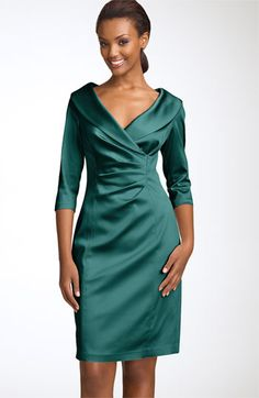 Mother of the Bride/Groom Dress - Kay Unger Stretch Satin Sheath Dress | Nordstrom