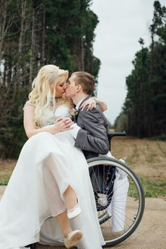 Muscular dystrophy wedding in a wheelchair  Breana Marie photography
