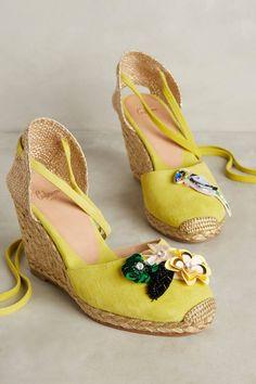 c8cc393072ba Slide View  1  Castaner Carina Citron Wedges Espadrille Shoes