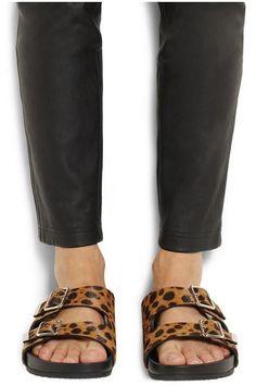 birkenstock leopard arizona sandals