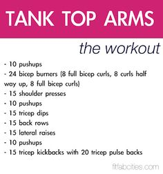 arm workout for women at home - Google Search
