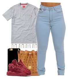 """""""Merry Christmas Eve"""" by ariangrant ❤ liked on Polyvore featuring Sonix, MCM, NIKE and Maison Margiela"""