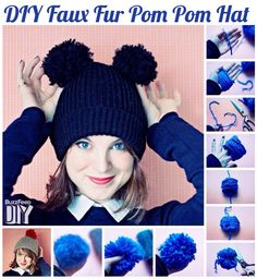 Here is a #DIY Faux #Fur #Pompoms idea I found via #BuzzFeed to keep you cozy this #winter.  No knitting or crocheting skills required!  #Style #DoItYourself #NewYears #NewYear #youcandoit #GirlPower