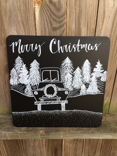 Merry Christmas Road Trip Chalkboard sign by SouthernClothCo