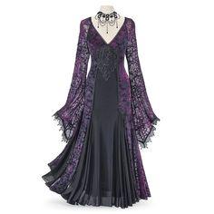 Unique Fashion, Fashion Vintage, Women's Fashion, Witch Fashion, Unique Dresses, Vintage Dresses, Vestidos Retro, Gothic Lolita Dress, Unique Clothes For Women