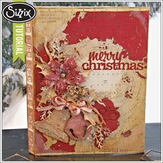 Sizzix Die Cutting Tutorial | Merry Christmas Configurations Book by Jan Hobbins