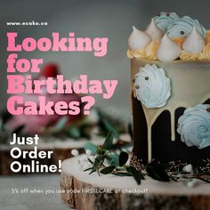Looking for Birthday Cakes? Simply Order Online @ www.ecake.ca  #cake #cakes #chocolate #food #birthdaycake #cakedecorating #dessert… Chocolate Food, Birthday Cakes, Instagram Feed, Cake Decorating, Dessert, Christmas Ornaments, Holiday Decor, Birthday Cake, Desserts