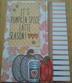 Made with Lawn Fawn- Love you a latte, Lawn Fawn -stitched border dies, Simon Says Stamp- stitched rectangles, pumpkins from Stamps of Life. Card by Jackie Short Pumpkin Spice Latte, Simon Says Stamp, Lawn Fawn, I Card, Pumpkins, Cocoa, Card Ideas, Stamps, Love You